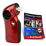 AlcoMate Prestige AL6000 (RED) Breathalyzer and Free Breathalyzer Tester Guide - Never Needs Factory Calibration - Free 2-3 Day Air Shipping!