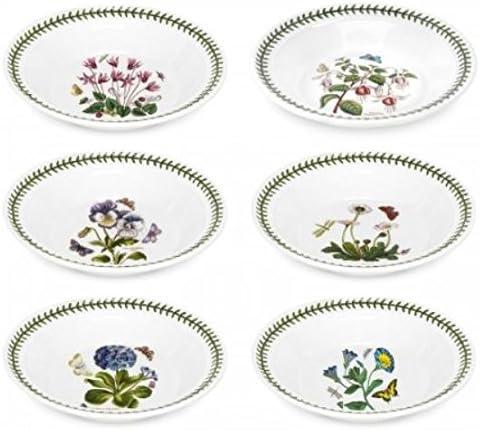 B0000X1MAE Portmeirion Botanic Garden Soup Plate, Set of 6 Assorted Motifs 51qvkffKqJL.