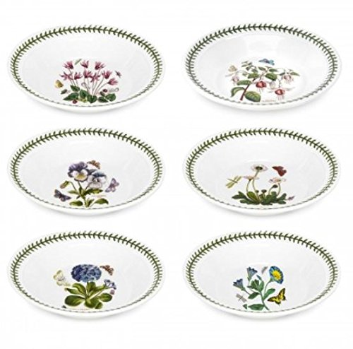 Portmeirion Botanic Garden Soup Plate, Set of 6 Assorted Motifs