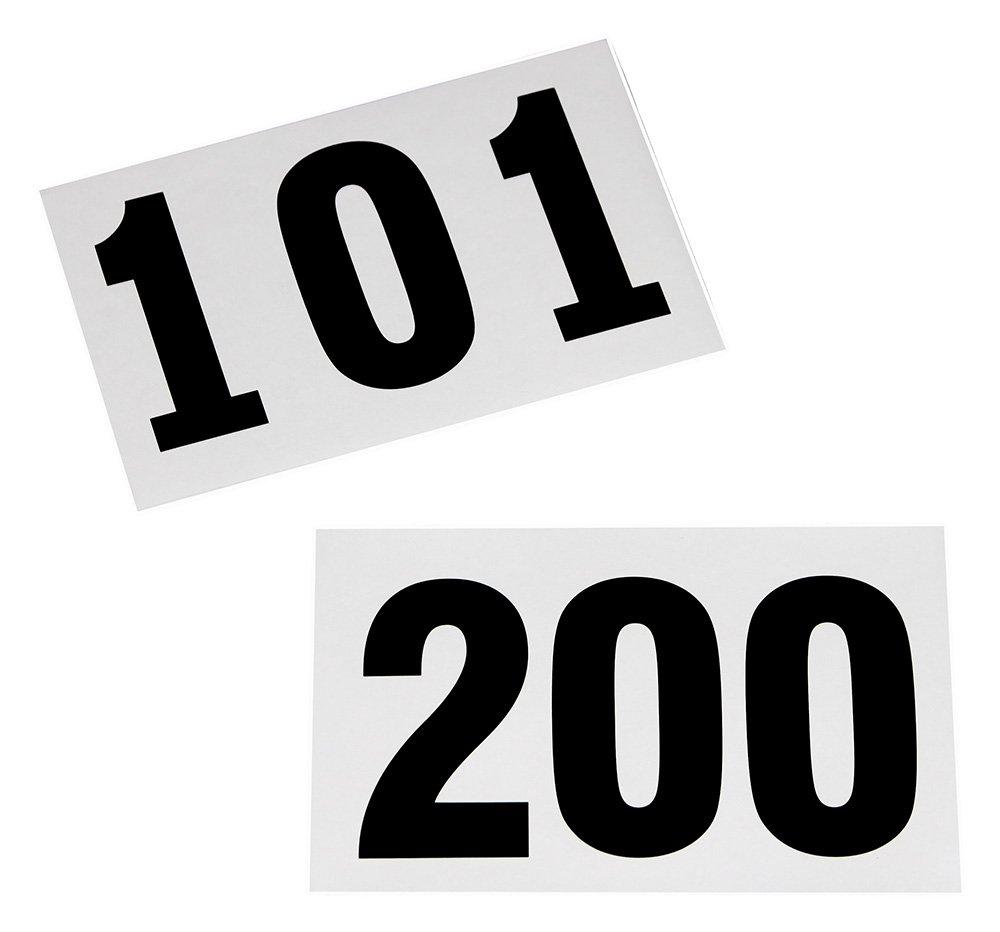 100 Startnummern für Sportveranstaltungen, Nummern 101 - 200