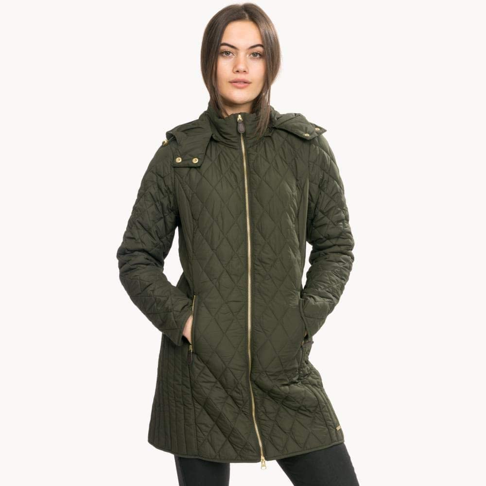 Joules Chatham Longline Padded Jacket with Removable Hood