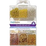 Multicraft Imports Glass Bead Kit, Jewel