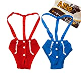 Alfie Pet by Petoga Couture - Jay Diaper Dog Sanitary Pantie with Suspender Set - Size: XS (for Girl Dogs)