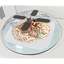 Microwave Cover Food Lid Splatter Guard With Steam Vents Magnetic 11.8 x 3.5 IN Anthony Wong (1)