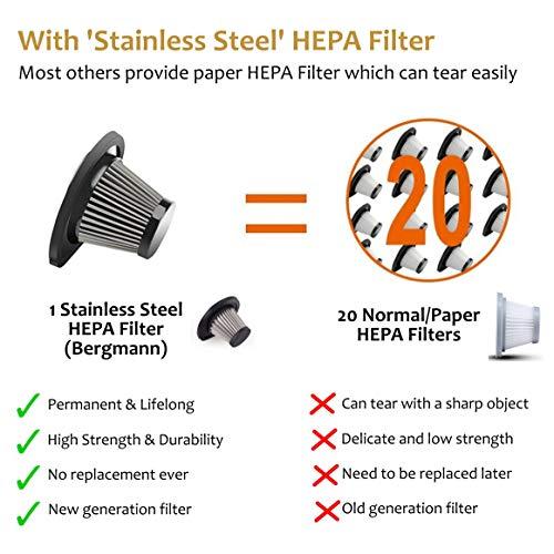Bergmann Stunner Car Vacuum Cleaner with Stainless Steel HEPA Filter