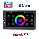 Henhaoro Android car stereo 7.1 Octa Core 2G 32G 7'' In Dash 2 Din Gps Navigation Player receiver Touch Screen Radio Head Unit (2018 Henhaoro A7 series)