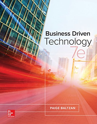 Loose Leaf for Business Driven Technology-cover