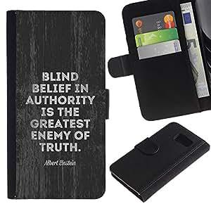 EJOY---La carpeta del tirón la caja de cuero de alta calidad de la PU Caso protector / Samsung Galaxy S6 / --autoridad enemigo movimiento verdad política