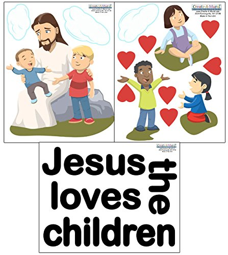 Create-A-Mural Jesus Loves Kids Wall Decals