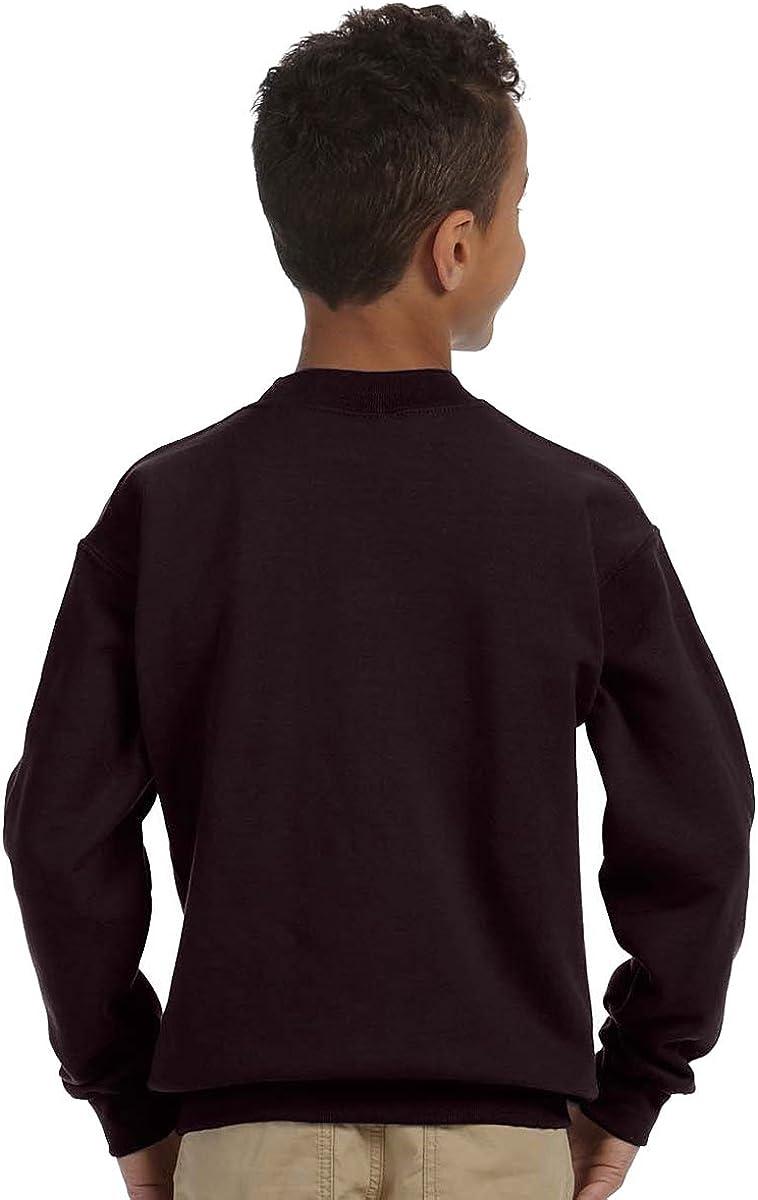 Maroon Medium Gildan Big Boys Heavy Blend Crewneck Waistband Sweatshirt