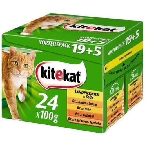Kitekat Multipack Landpicknick Katzenfutter 24x100g