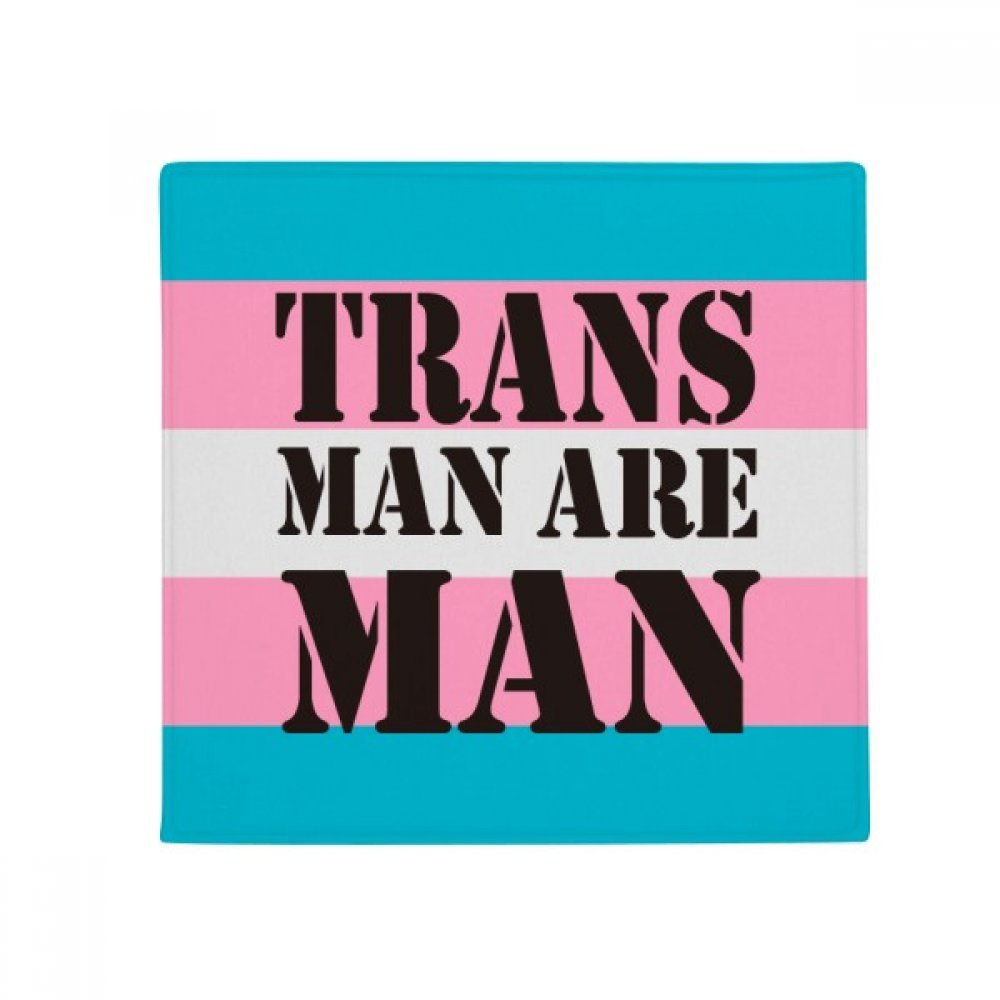 DIYthinker Trans Man Support LGBT Transgender Anti-Slip Floor Pet Mat Square Home Kitchen Door 80Cm Gift