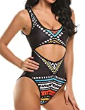 Women's Hollow Out Monokini Swimsuit One Piece Swimwear Bodysuit (XL