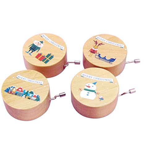Continuous Christmas Music.Amazon Com Supvox Christmas Music Box With Reindeer Snowman
