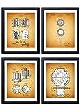 Poker Patent Wall Art Prints - Set of Four (8X10) Vintage Unframed Photos