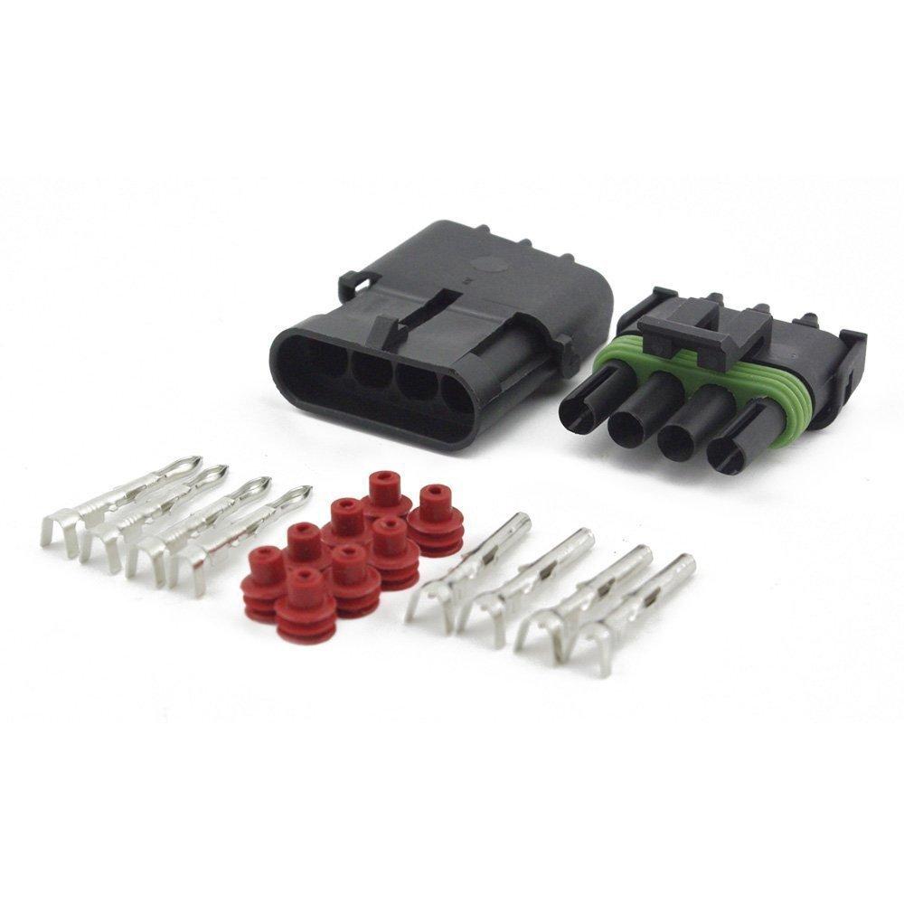 2 Broche Sceau Vert IMAGINE 2 Pin 20-14 AWG Connecteur /étanche /électrique Connecteur Imperm/éable Terminaux 1,5 mm S/érie Bornes Heat Shrink