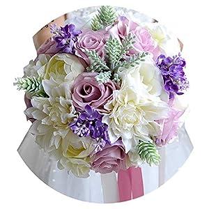 Romance-and-Beautyovia Wedding Flowers Bridal Bouquet Bridal Bridesmaid Bouquet Bride Bouquet Wedding Bouquet Bride Holding Flowers FE19 40