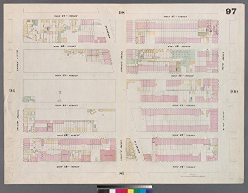 Map Poster - Plate 97: Map bounded by West 47th Street, Sixth Avenue, West 42nd Street, Eighth Avenue 17