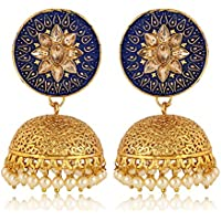 Shining Diva Fashion Latest Design Stylish Traditional Party Wear Pearl Jhumki Earrings for Women and Girls