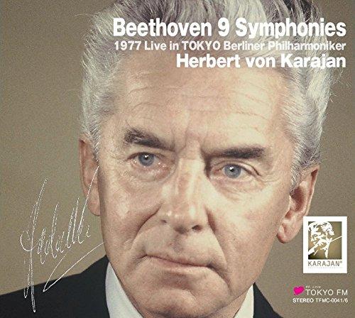 ベートーヴェン : 交響曲全集 | ピアノ協奏曲 第3番 & 第5番 (Beethoven : 9 Symphonies ~ 1977 Live in Tokyo / Herbert von Karajan | Berliner Philharmoniker) (6CD) [Live Recording] [Limited Edition] [日本語帯解説付]