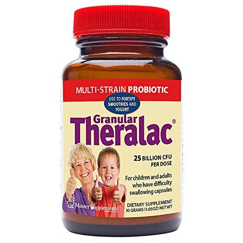 Master Supplements Granular Theralac, Multi-Strain Probiotic, 25 Billion CFU, 30 (Probiotic Master Supplement)