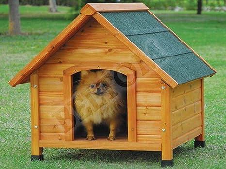 Beltom De Madera Perrera Casa del Perro Refugio Small/pequeño + PVC Carpa/Puerta - Small: Amazon.es: Productos para mascotas