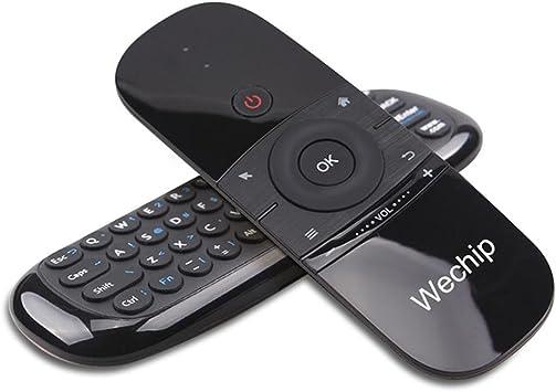 Wechip Mini Teclado, Smart TV Teclado inalámbrico Fly Mouse W1 Mando a Distancia Multifuncional para Android TV Box/PC/Smart TV/proyector/HTPC/All-in-One PC/TV: Amazon.es: Electrónica