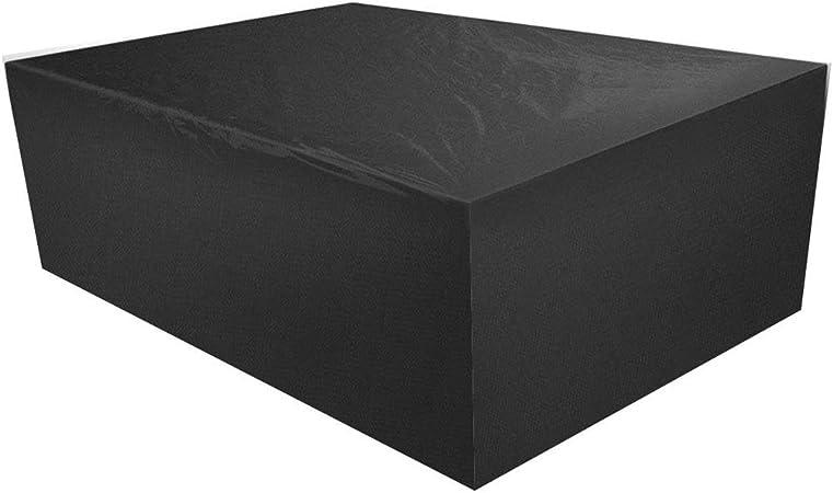 Funda for Muebles de Jardín Impermeable Protección contra Lluvia y Sol Tela Oxford for Patio Interior Exterior Fundas for Muebles de Jardin - Negro (Size : 135x135x75cm): Amazon.es: Hogar