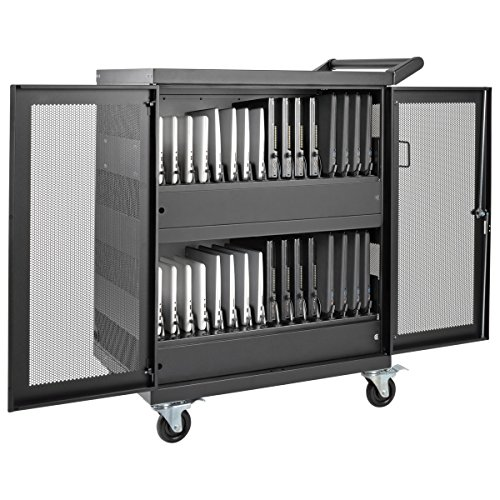 Tripp Lite 32-Port AC Charging Cart Storage Station for Chromebooks, Laptops & Tablets (CSC32AC) by Tripp Lite (Image #1)
