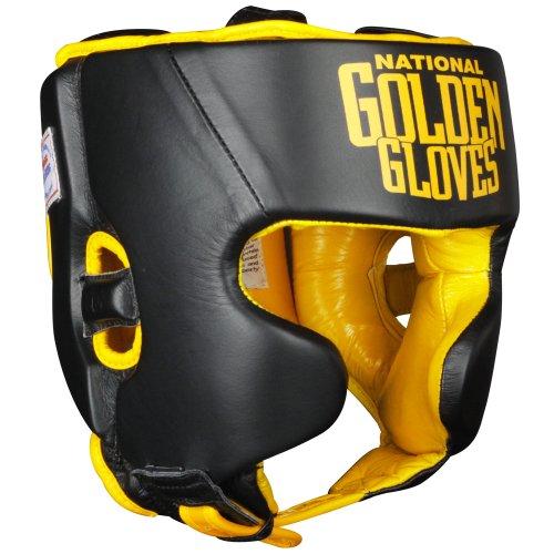 (Ringside Golden Gloves Amateur Competition Headgear, Black, Large)