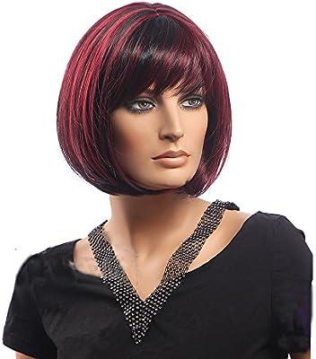 Kolight - Peluca de pelo corto y recto para mujer y niña, color ...
