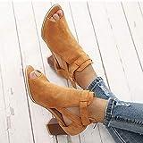 Women Cutout Sandals Peep Toe Block Heels Wedge