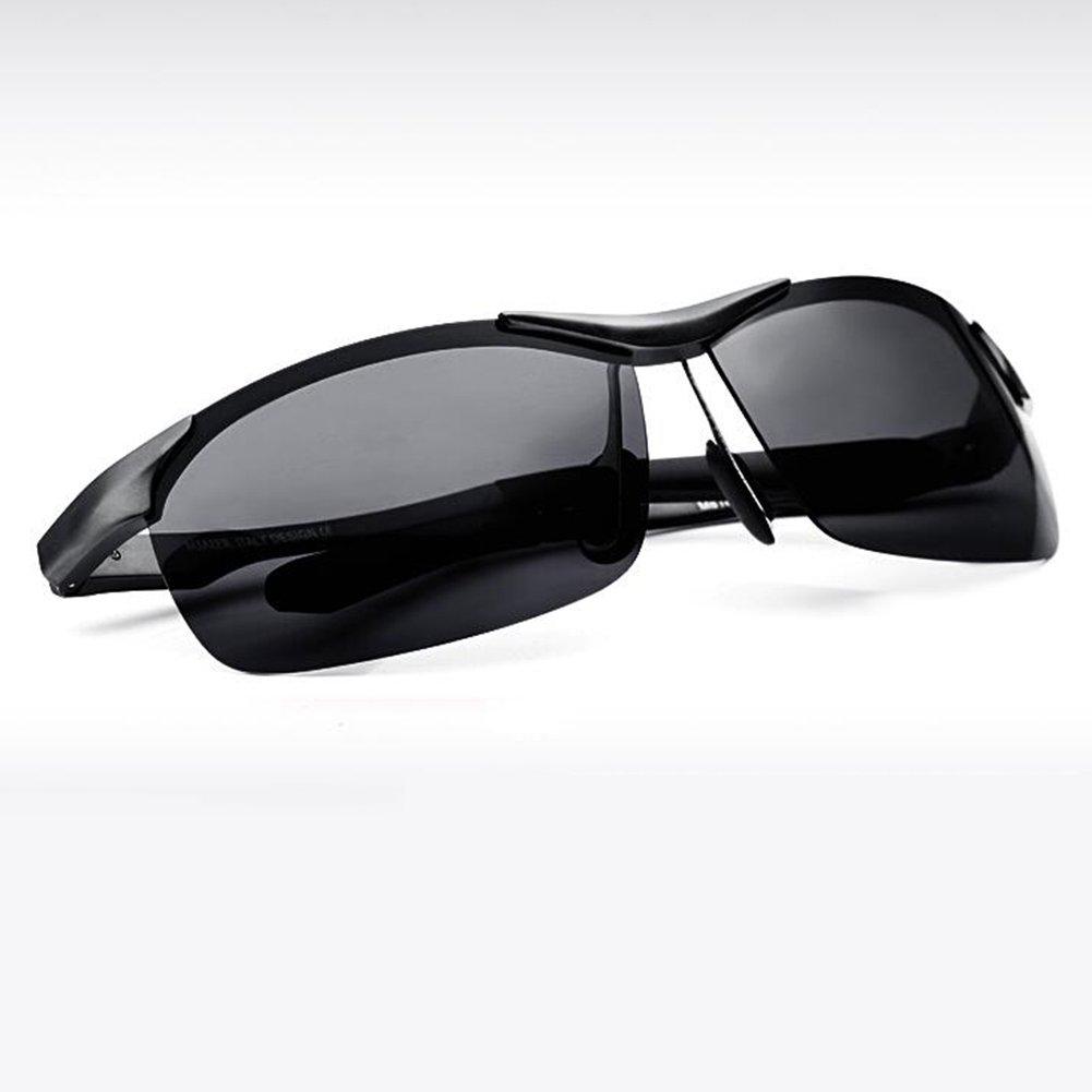 HONEY Lunettes de soleil polarisées Sports personnalisés - Cadre aviation aluminium-magnésium haut de gamme - Contrôle de sécurité (Couleur : Cadre brun) YjYZxsbHQ