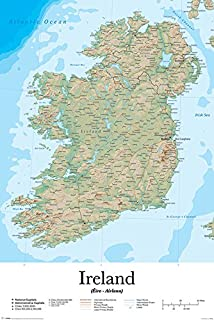Ireland classic tubed wall maps countries regions national pyramid international ireland map maxi poster plasticglass multi colour 61 gumiabroncs Images