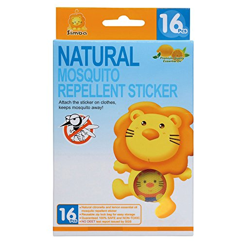 Simba Natural Mosquito Repellent Sticker (16pcs) DEET-Free with Citronella and Lemon ()