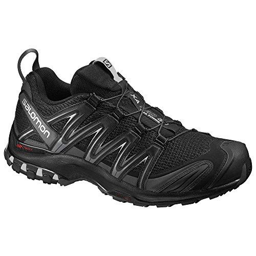Salomon Mens Xa Pro 3d Scarpe Da Trail Running Nero / Magnete / Ombra Silenziosa