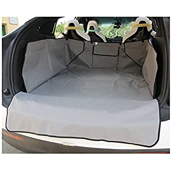 TOPFIT Waterproof Pet Cargo Cover for Pets,Pet Seat Cover for Cars,Easy Install Fits Most Autos, SUV, Vans & Trucks (Gray)