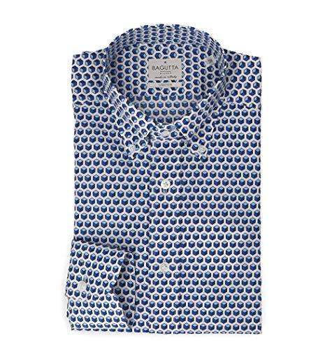 Bagutta Men's 387Ebl09270652 Blue Cotton Shirt
