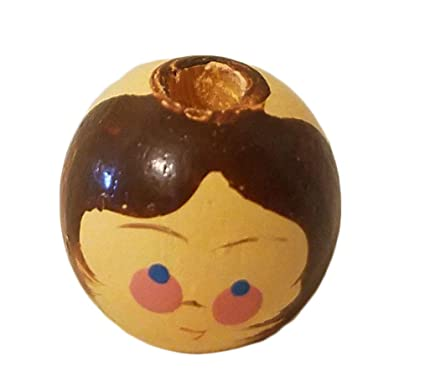 Amazoncom 16mm Painted Wood Doll Heads Beads 100 Count