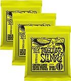#3: Ernie Ball 2221 Nickel Regular Slinky Electric Guitar Strings 3 Pack