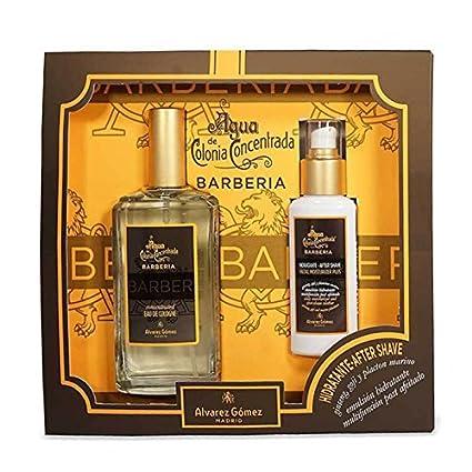 Alvarez Gomez Barbería - Set con Estuche de Agua de Colonia Concentrada (150 ml) y Bálsamo Aftershave (90 ml) - 2 Unidades