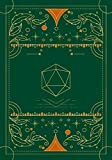 RPG journal: Mixed paper: Ruled, graph, hex: For role playing gamers: Notes, tracking, mapping, terrain plans: Vintage dark green dice deco cover design