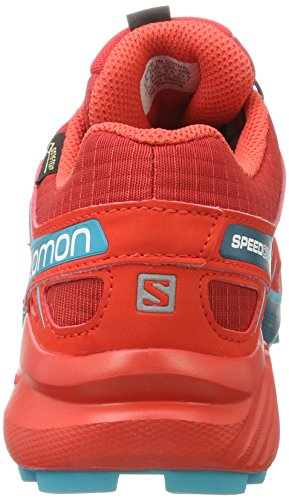 Senderismo Red Cherry Poppy Mujer de W Lago Rojo para Speedcross GTX Deep Salomon Barbados 4 Zapatillas fwOYFFq