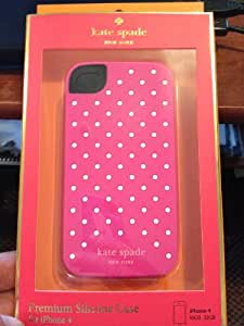 Kate Spade Pink With Small Dots Silica Gel Case Cover For iPhone 4 4G 4S KS010