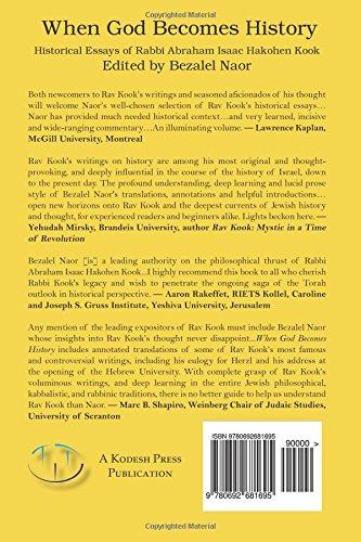 when god becomes history historical essays of rabbi abraham isaac  when god becomes history historical essays of rabbi abraham isaac hakohen kook abraham isaac kook bezalel naor 9780692681695 com books