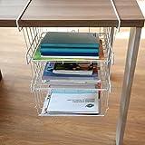 OKOKMALL US--3Tier Under Shelf Table Wire Mesh Stotage Rack Pantry Basket Fridge Rack Kitchen