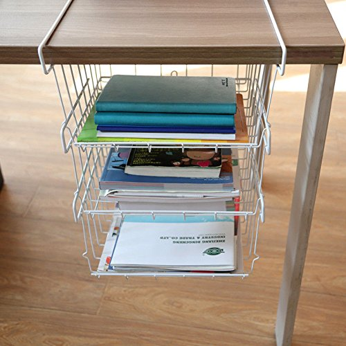 OKOKMALL US--3Tier Under Shelf Table Wire Mesh Stotage Rack Pantry Basket Fridge Rack Kitchen by OKOKMALL US