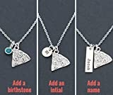 Personalized Pizza Necklace – DII ABC - Best Friend Gift – Funny Gift – Handstamped Handmade – Customize Initial Name Disc – Fast 1 Day Shipping