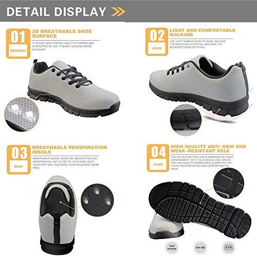 Per Donna Da Con 5 Scarpe Lacci Polero Traspirante Sneaker Corsa f0EXUIqq