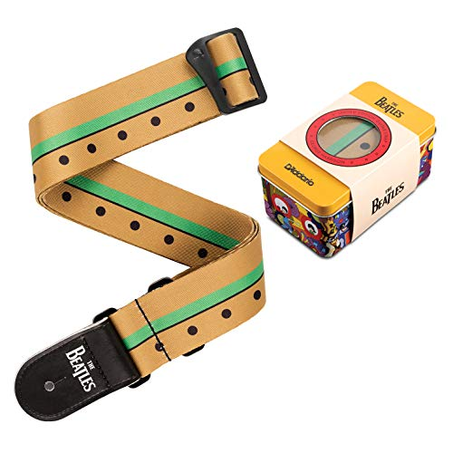 D'Addario Yellow Submarine 50th Anniversary Collectible Guitar Strap & Tin (George (50BTYS02))